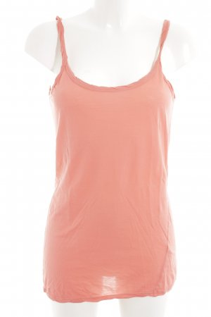 Velvet Basic Top apricot Casual-Look