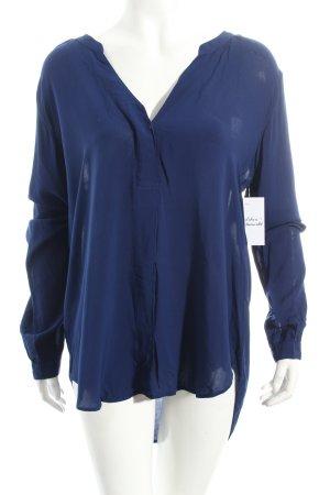 Velvet Bluse blau Casual-Look