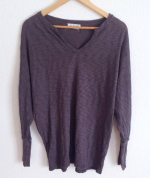 Velvet by Graham & Spencer Fledermaus Oversize Tunika Shirt Taupe Boxy Yoga M L