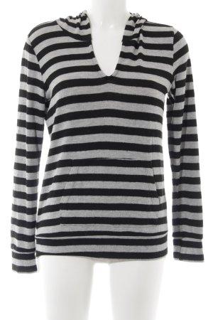 Velvet by Graham & Spencer Pull à capuche noir-gris clair motif rayé