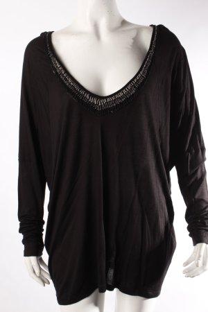 Velvet by Graham & Spencer Oversize Shirt verzierter Ausschnitt