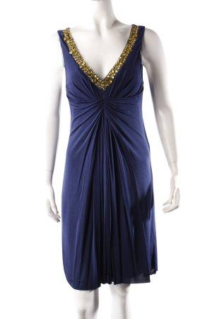Velvet Cocktailkleid dunkelblau mit Steinen