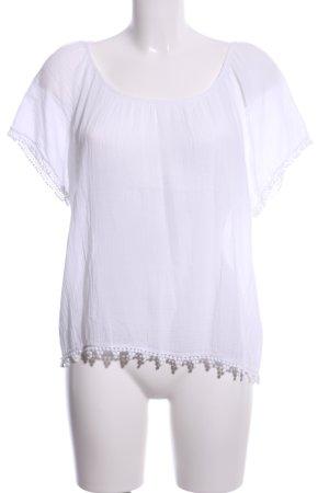 Velvet Gehaakt shirt wit casual uitstraling