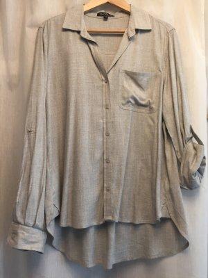 Velvet Heart Camisa de manga larga gris claro rayón