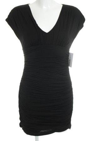 Velvet Jerseykleid schwarz Elegant