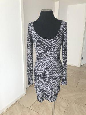 Velvet Kleid mit Print in Grau