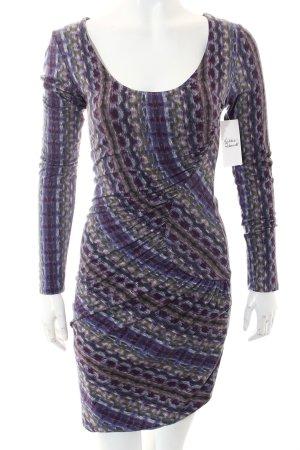 Velvet Langarmkleid abstraktes Muster Elegant