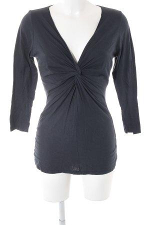 Velvet Longshirt dunkelblau schlichter Stil