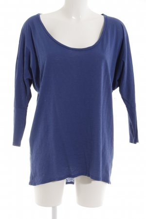 Velvet Longsleeve blau Casual-Look