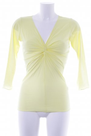 Velvet Longsleeve gelb Street-Fashion-Look