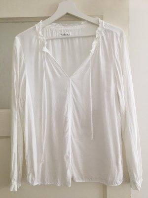 Velvet by Graham & Spencer T-shirt col en V blanc viscose