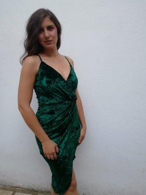 Velvet Samt Kleid Nelly 36 Grün