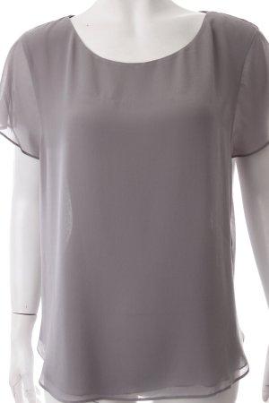 Velvet Schlupf-Bluse grau