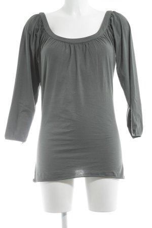 Velvet Schlupf-Bluse graublau Casual-Look