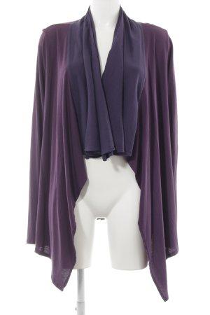 Velvet Strickmantel lila-grauviolett Casual-Look