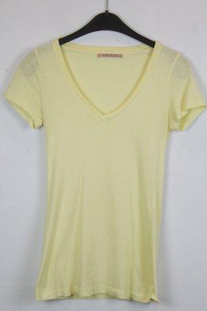 Velvet Sweatshirt T-Shirt Gr. S hellgelb V-Ausschnitt (18/4/113)