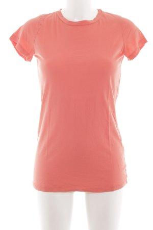 Velvet T-Shirt hellorange sportlicher Stil