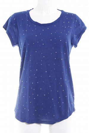 Velvet T-Shirt blau Casual-Look