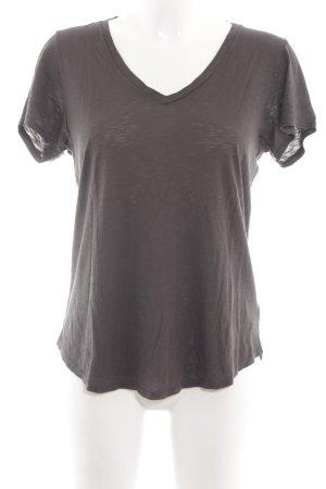 Velvet T-Shirt braun Casual-Look