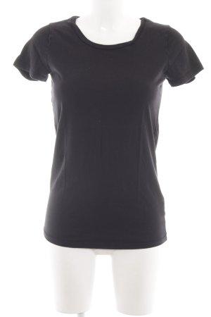 Velvet T-Shirt schwarz Casual-Look