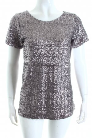 Velvet T-Shirt graulila Metallic-Optik