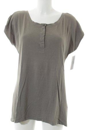 Velvet T-Shirt khaki schlichter Stil