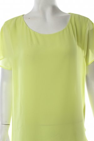 Velvet T-Shirt neongelb Transparenz-Optik