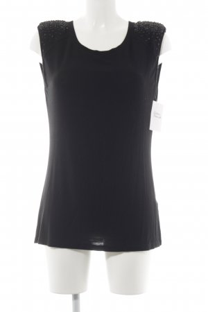 Velvet T-Shirt schwarz Casual-Look