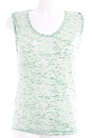 Velvet T-Shirt waldgrün-blassgrün Casual-Look