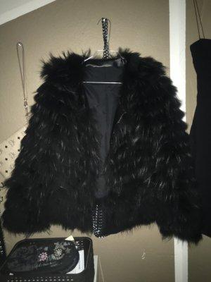 Giacca di pelliccia nero Pelliccia
