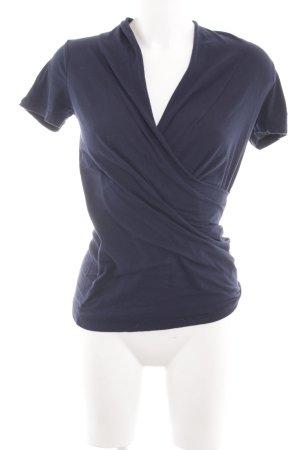 Velvet Wickelshirt blau Casual-Look