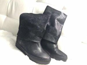 Venezia Slip-on Booties black leather