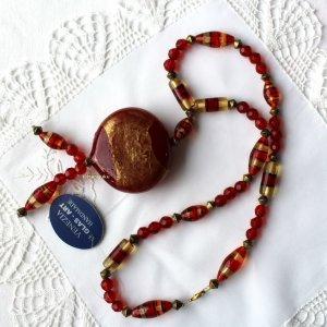 Venezia Pearl Necklace dark red-gold-colored