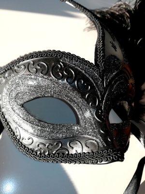 Venezianische Maske mit Glitzer für Silvester