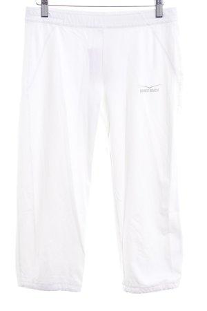 Venice beach Pantalone a 3/4 bianco caratteri stampati stile atletico