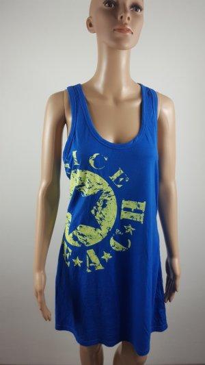Venice Beach Damen Strandkleid Hängerchenkleid mit Druck Größe 40/42 blau