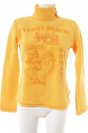 Venice beach Fleecepullover hellorange Kuschel-Optik