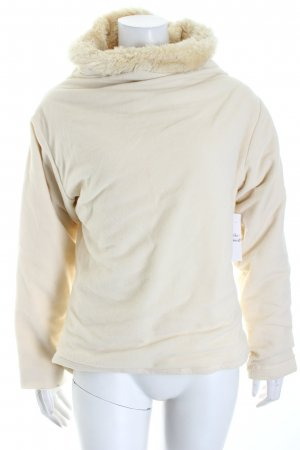 Venice beach Pullover in pile bianco sporco soffice
