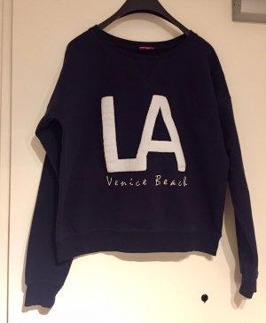 Venice Beach: Kuscheliges Sweatshirt Dunkelblau L.A. Gr. S