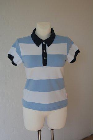 Venice beach Polo Shirt white-cornflower blue