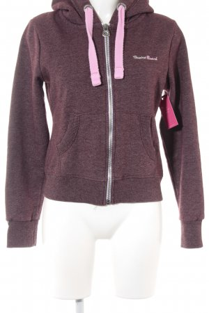 Venice beach Sweat Jacket bordeaux-pink athletic style