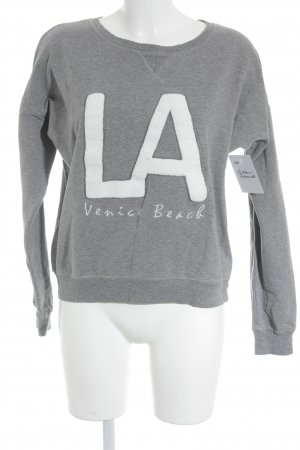 Venice beach Sweatshirt grau-weiß grafisches Muster Casual-Look