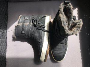Venice Ankle Boots black-white