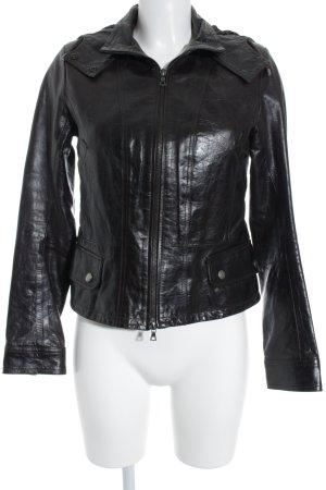 Vent Couvert Leather Jacket dark brown biker look