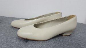 Venturini Damen Schuhe Slingback Pumps Echtleder altweiß Größe 38 NEU