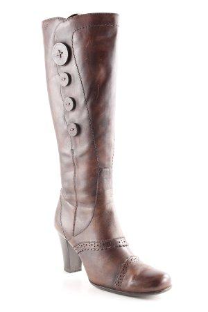 Venturini High Heel Stiefel dunkelbraun Casual-Look