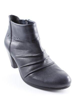 Venturini Reißverschluss-Stiefeletten schwarz klassischer Stil