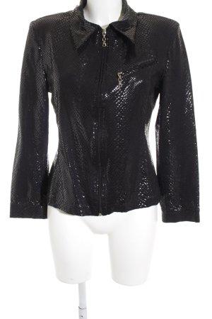 vera finzzi PARIS Blouse Jacket black animal pattern extravagant style