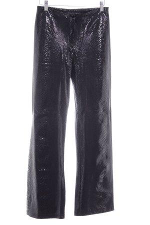 vera finzzi PARIS Pantalon taille haute noir motif de tache style des années 80