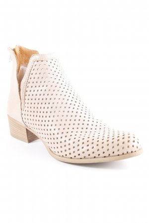 Vera Gomma Cut-Out-Stiefeletten beige-nude Karomuster Casual-Look